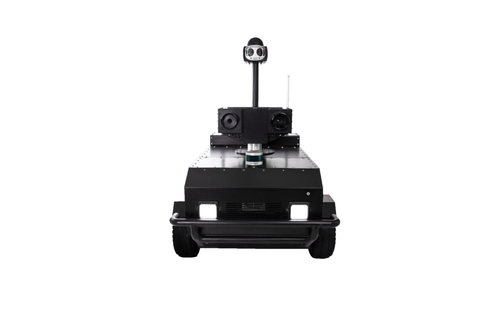 Pguard safety patrolling robot front view