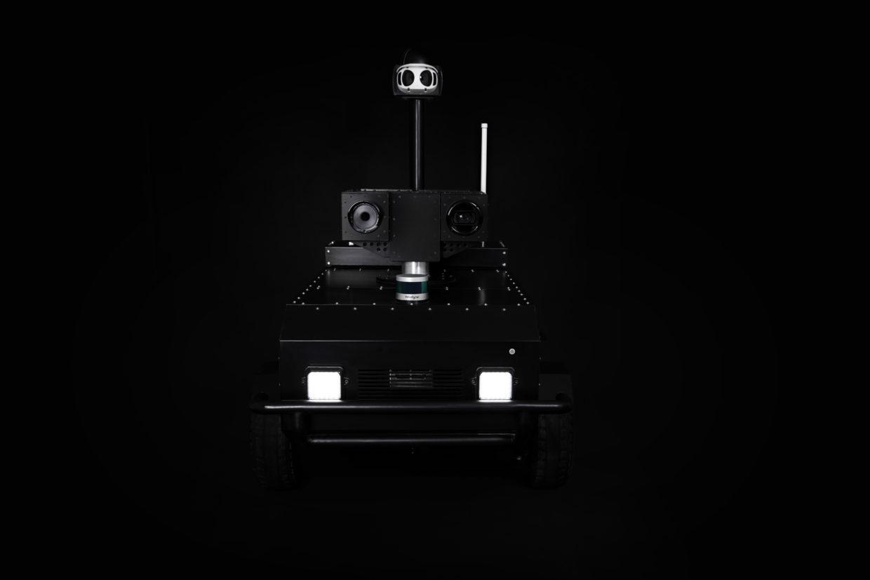 Pguard the autonomous mobile security robot black BG